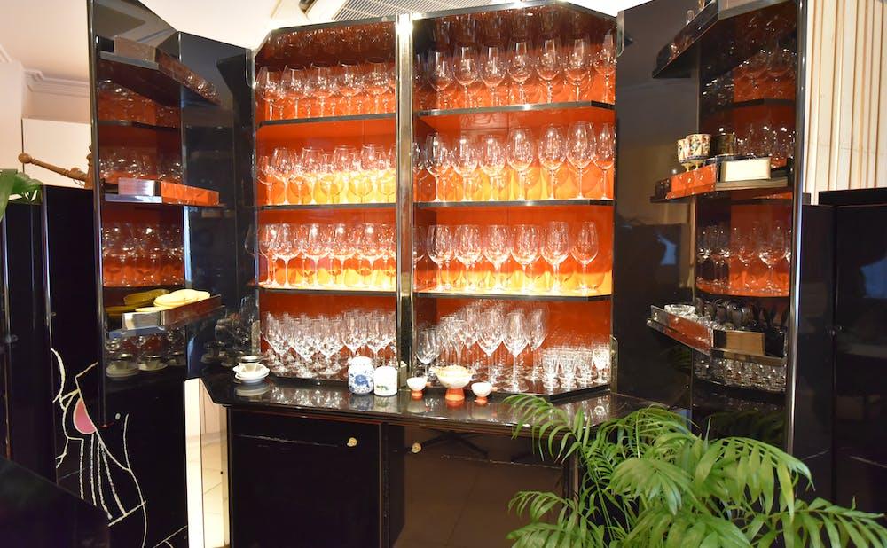 「メゾン・ド・ユーロン」のワイングラス