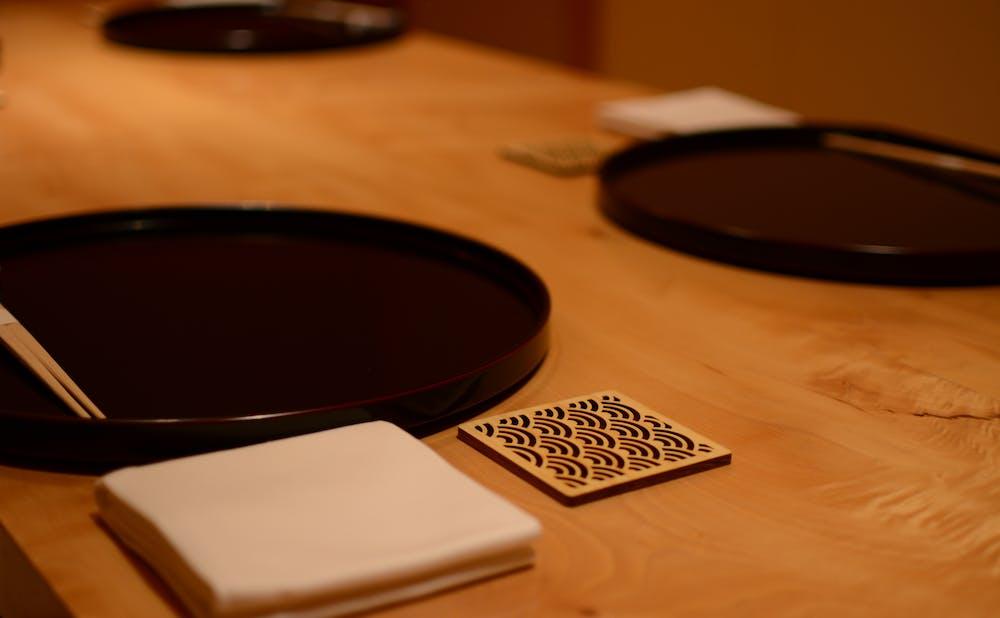 「銀座しもじ」のテーブル