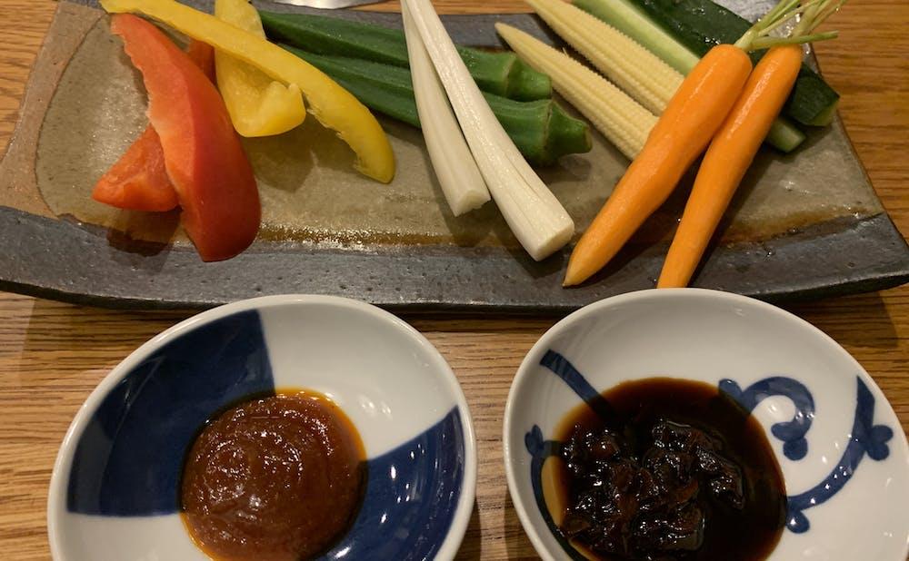 「誇味山」の野菜スティック