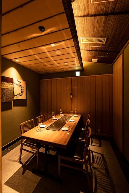 「くずし鉄板 あばぐら 恵比寿店」の個室