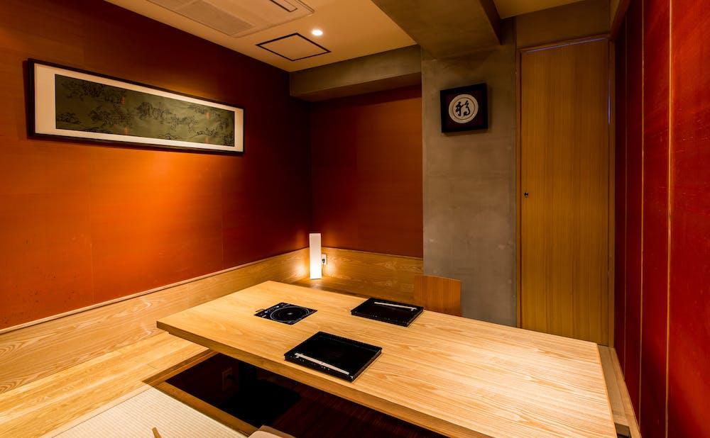 「銀座 きた福」の個室