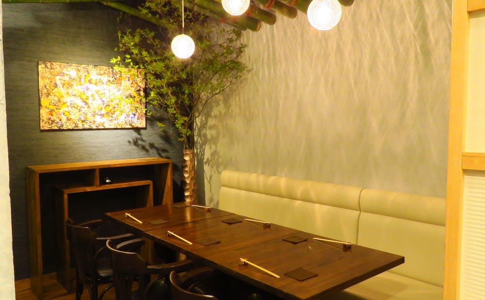 「蕎麦懐石 義」の個室