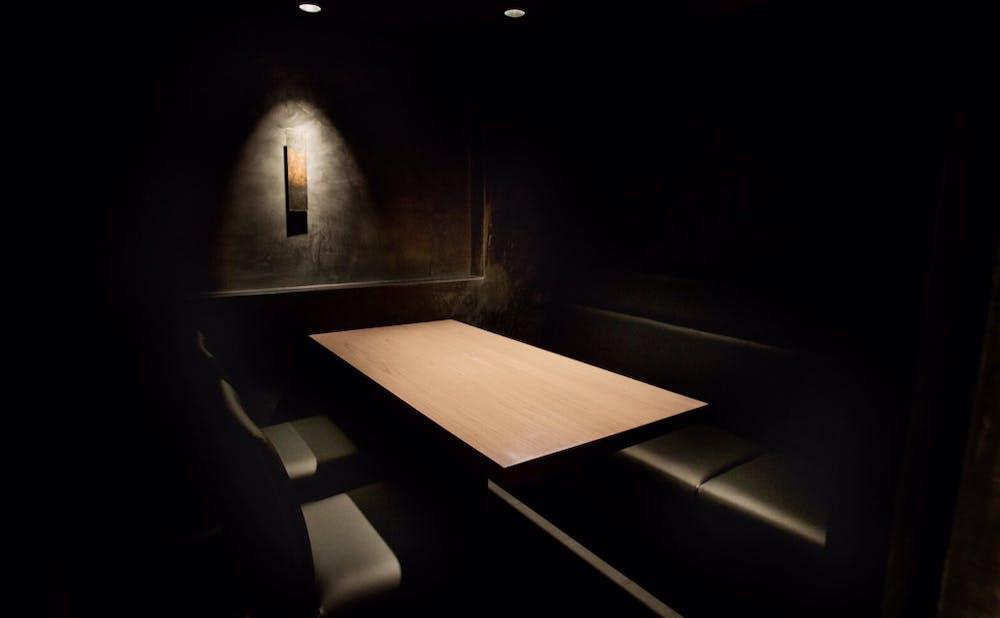 「中目黒いぐち 上ル 麻布十番」のテーブル
