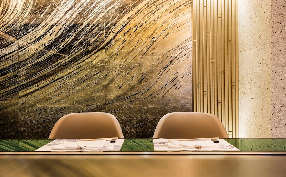 「嘉門/帝国ホテル 東京」のカウンター席
