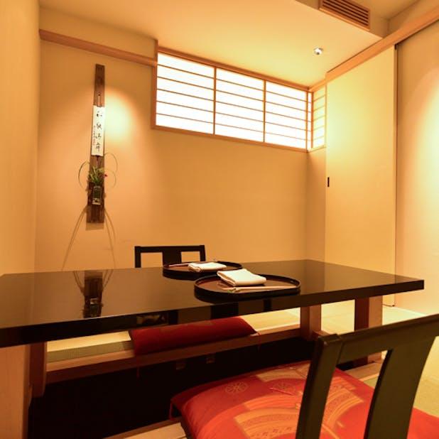 「日本料理 太月」の個室