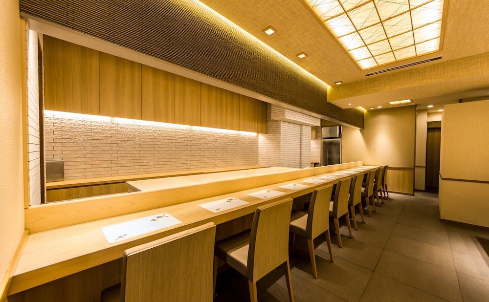 赤坂 鮨葵のカウンター