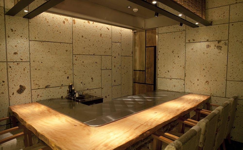 「鉄板焼ステーキ ほたる 」のカウンター個室
