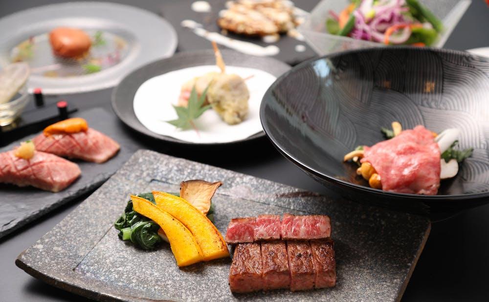 「神戸ビーフ鉄板焼 神戸プレジール銀座 」の料理