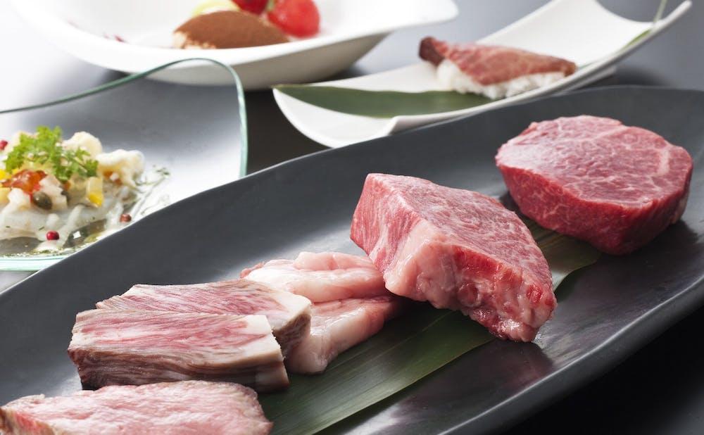 「鉄板焼 宮地」のお肉