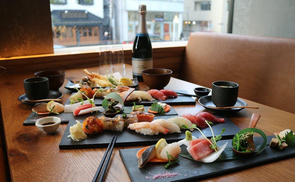 「KINKA sushi bar 渋谷」 の料理