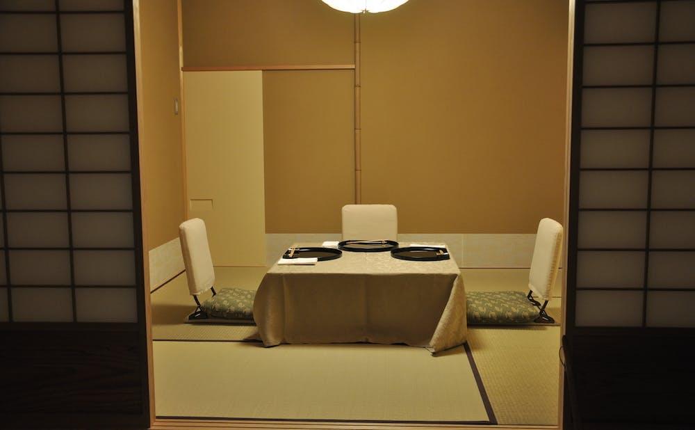 「銀座吉兆」の個室