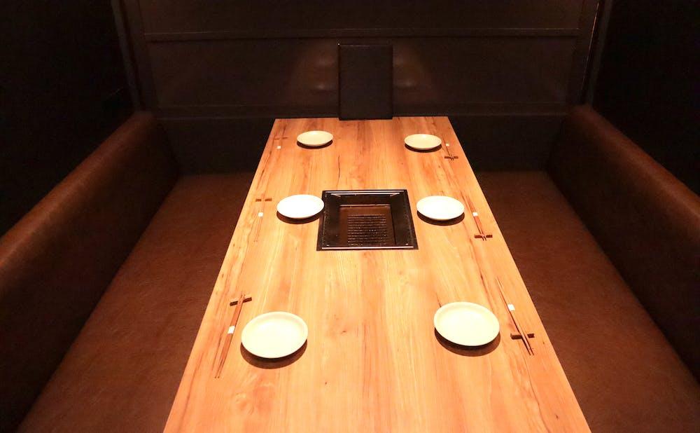 「焼肉 あざぶや」の個室