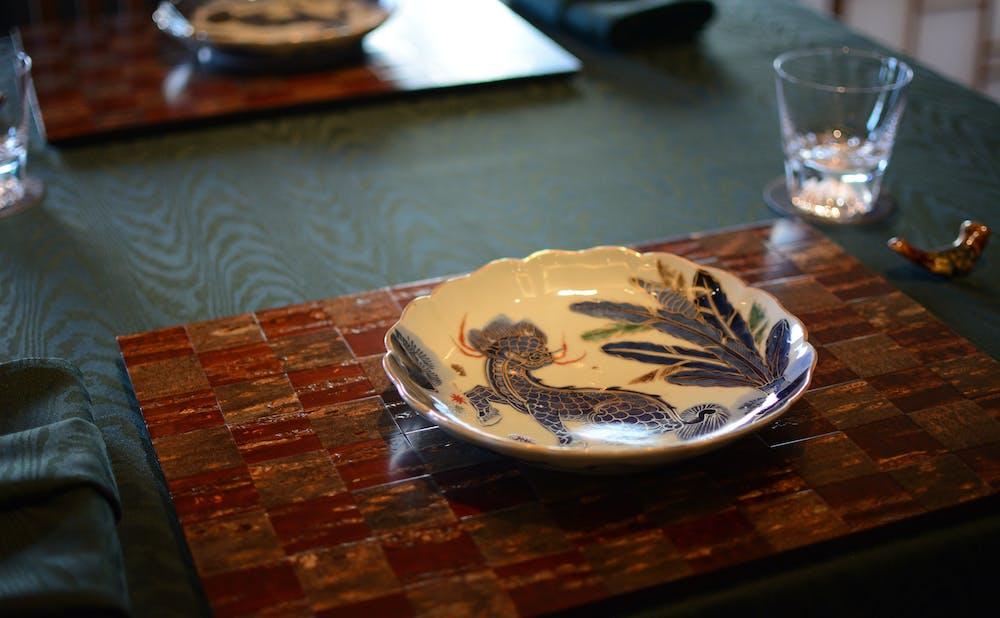 「日本料理 龍吟」の器