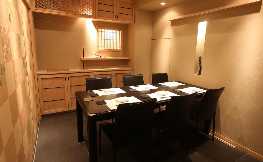 「銀座 よし澤」の個室
