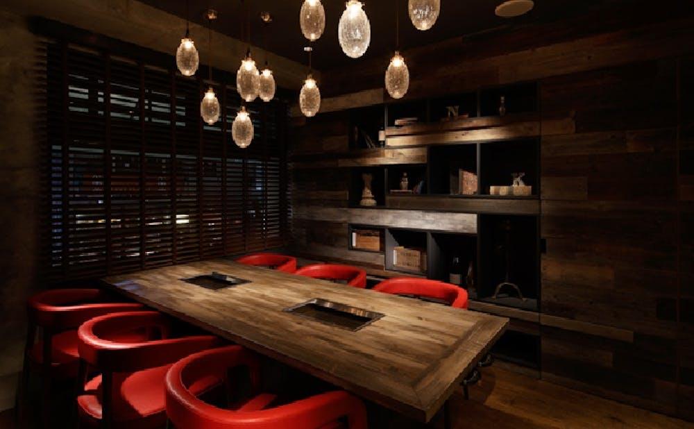 「六本木 焼肉 Kintan」の個室