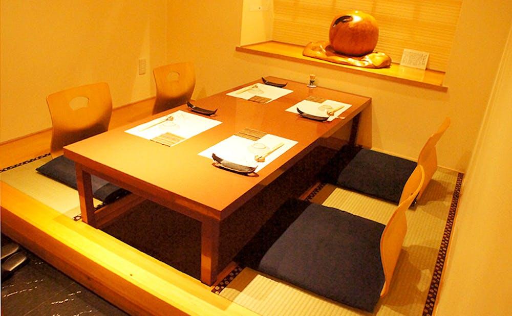 銀座 鮨 たじまの個室
