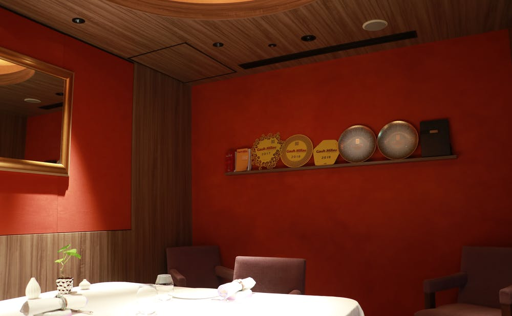 「ピエール・ガニェール」の個室