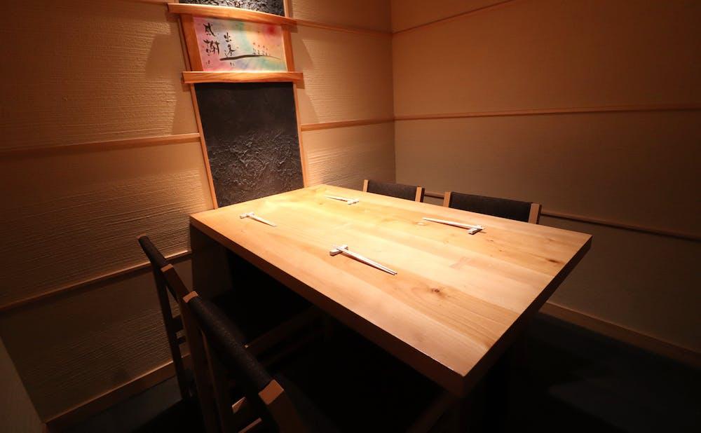 銀座 柳壽司三代目の個室