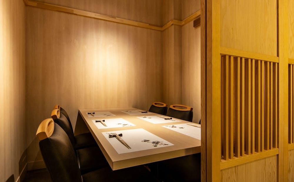 鮨 おぎ乃の個室