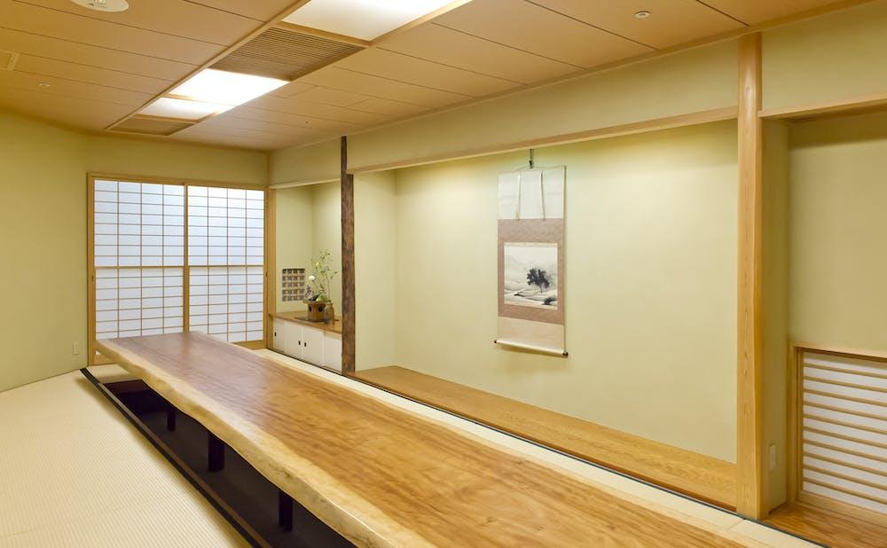 「つきじ鈴富 ホテルニューオータニ店/ホテルニューオータニ」の個室