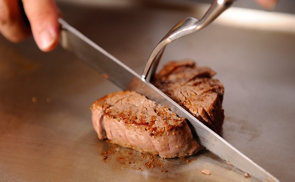 銀座 鉄板焼 ORCAの肉