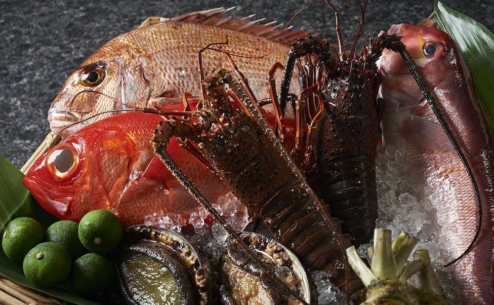 鉄板焼 銀明翠 GINZAの魚