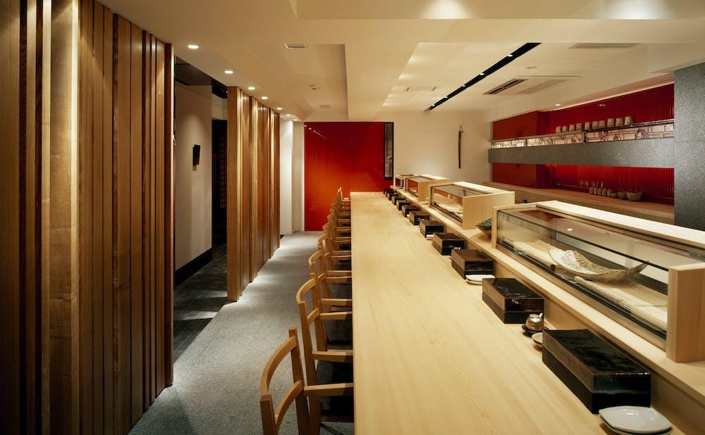 寿司はせ川 西麻布店のカウンター