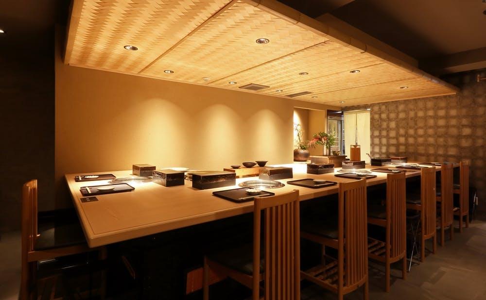 日本焼肉 はせ川 銀座店のカウンター席