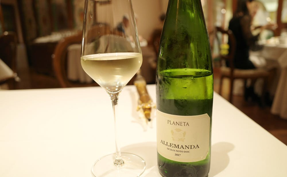「リストランテASO」のシャンパン