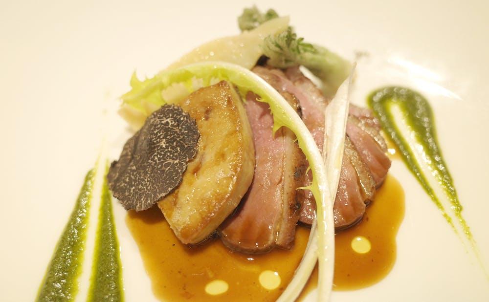 「リストランテASO」のメインディッシュ 北海道産鴨肉のロースト